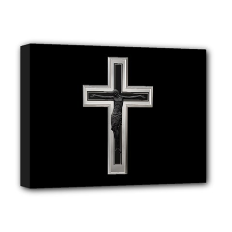 Christian Cross Deluxe Canvas 16  X 12  (stretched)  by igorsin