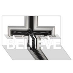 Christian Cross Believe 3d Greeting Card (8x4) by igorsin