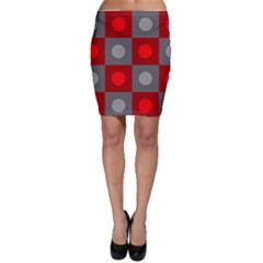 Circles In Squares Pattern Bodycon Skirt