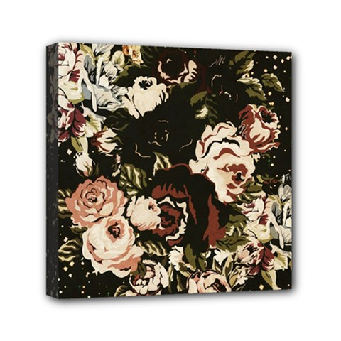 Dark Roses Mini Canvas 6  X 6  by LovelyDesigns4U