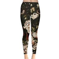 Dark Roses Winter Leggings by LovelyDesigns4U
