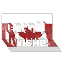 Style 3 Best Wish 3d Greeting Card (8x4)