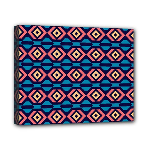Rhombus  Pattern Canvas 10  X 8  (stretched) by LalyLauraFLM