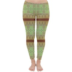 Aztec Pattern Winter Leggings