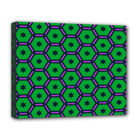 Stars In Hexagons Pattern Deluxe Canvas 20  X 16  (stretched) by LalyLauraFLM