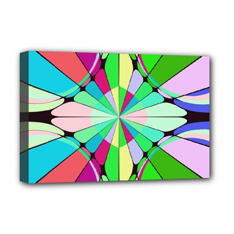 Distorted Flower Deluxe Canvas 18  X 12  (stretched) by LalyLauraFLM