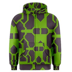 Brown Green Shapes Men s Zipper Hoodie