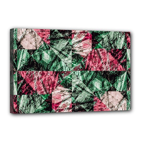 Luxury Grunge Digital Pattern Canvas 18  X 12  by dflcprints