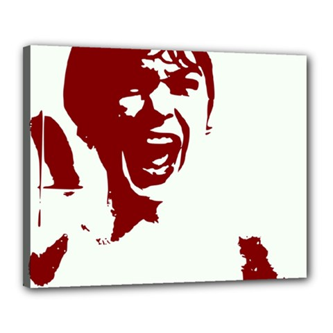 Psycho Canvas 20  X 16  by icarusismartdesigns
