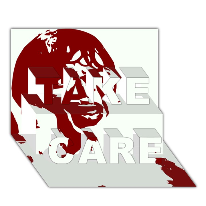 Psycho TAKE CARE 3D Greeting Card (7x5)