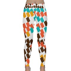 Rectangles On A White Background Yoga Leggings