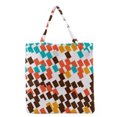 Rectangles On A White Background Grocery Tote Bag