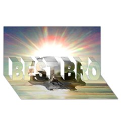 Skull Sunset Best Bro 3d Greeting Card (8x4)  by icarusismartdesigns