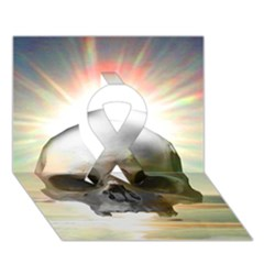 Skull Sunset Ribbon 3d Greeting Card (7x5)  by icarusismartdesigns