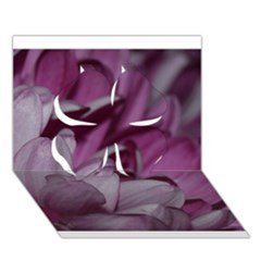 Purple! Clover 3d Greeting Card (7x5)  by timelessartoncanvas