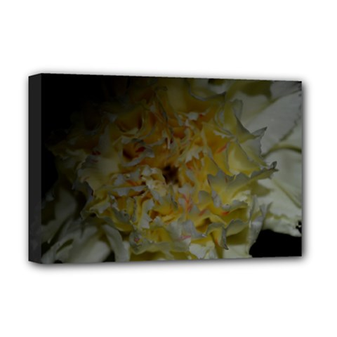 Yellow Flower Deluxe Canvas 18  X 12   by timelessartoncanvas