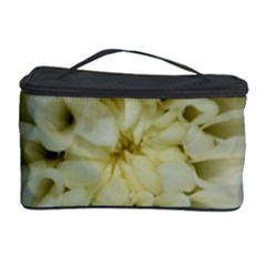 White Flowers Cosmetic Storage Cases by timelessartoncanvas