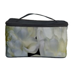 White Flowers 2 Cosmetic Storage Cases by timelessartoncanvas