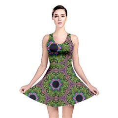 Repeated Geometric Circle Kaleidoscope Reversible Skater Dresses by canvasngiftshop
