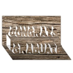 Weathered Wood Congrats Graduate 3d Greeting Card (8x4)