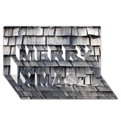 Weathered Shingle Merry Xmas 3d Greeting Card (8x4)  by trendistuff