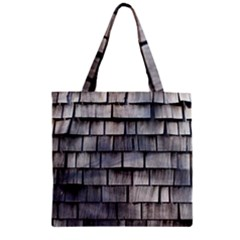 Weathered Shingle Zipper Grocery Tote Bags by trendistuff