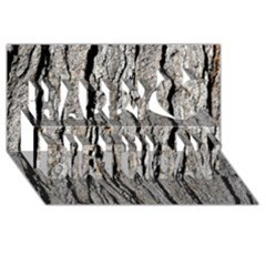 Tree Bark Happy Birthday 3d Greeting Card (8x4)  by trendistuff