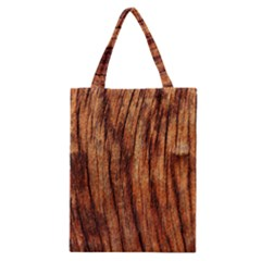 Old Brown Weathered Wood Classic Tote Bags by trendistuff