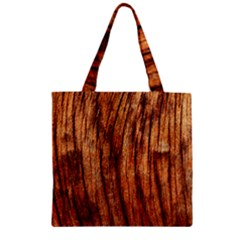 Old Brown Weathered Wood Zipper Grocery Tote Bags