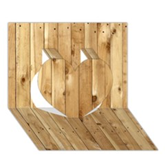 Light Wood Fence Heart 3d Greeting Card (7x5)  by trendistuff