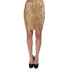 Light Wood Fence Bodycon Skirts