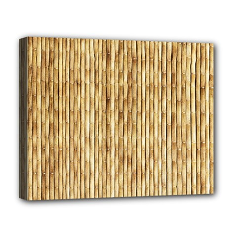 Light Beige Bamboo Deluxe Canvas 20  X 16   by trendistuff