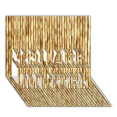 Light Beige Bamboo You Are Invited 3d Greeting Card (7x5)  by trendistuff