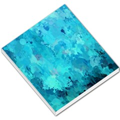 Splashes Of Color, Aqua Small Memo Pads by MoreColorsinLife