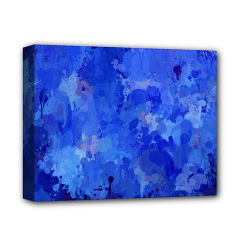 Splashes Of Color, Blue Deluxe Canvas 14  X 11  by MoreColorsinLife