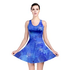 Splashes Of Color, Blue Reversible Skater Dresses by MoreColorsinLife