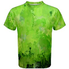 Splashes Of Color, Green Men s Cotton Tees by MoreColorsinLife