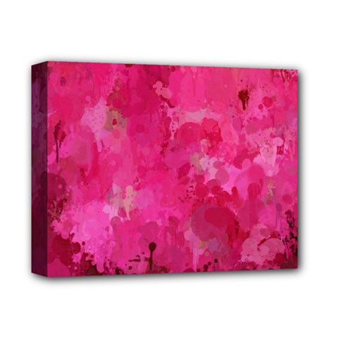 Splashes Of Color, Hot Pink Deluxe Canvas 14  X 11  by MoreColorsinLife