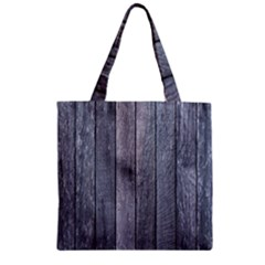 Grey Fence Zipper Grocery Tote Bags by trendistuff