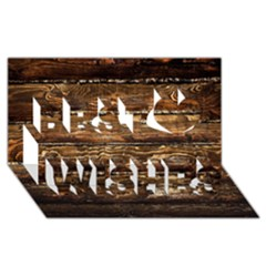 Dark Stained Wood Wall Best Wish 3d Greeting Card (8x4)  by trendistuff