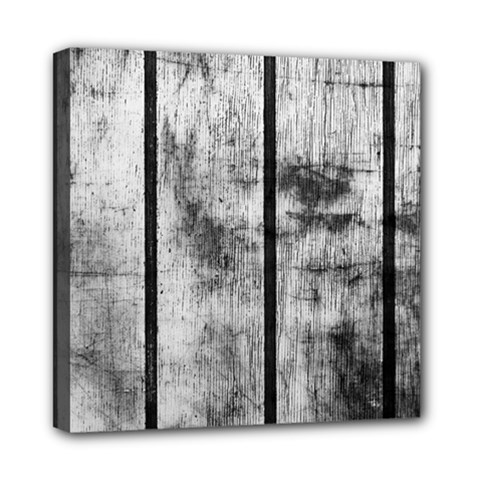 Black And White Fence Mini Canvas 8  X 8  by trendistuff