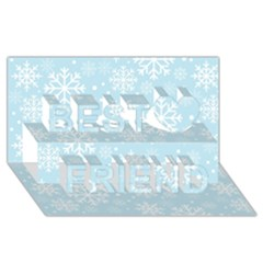 Frosty Best Friends 3d Greeting Card (8x4)  by Kathrinlegg