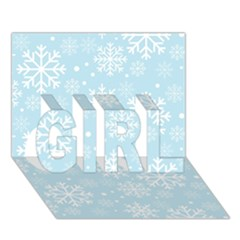 Frosty Girl 3d Greeting Card (7x5)