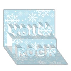 Frosty You Rock 3d Greeting Card (7x5)  by Kathrinlegg