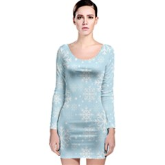 Frosty Long Sleeve Bodycon Dresses by Kathrinlegg