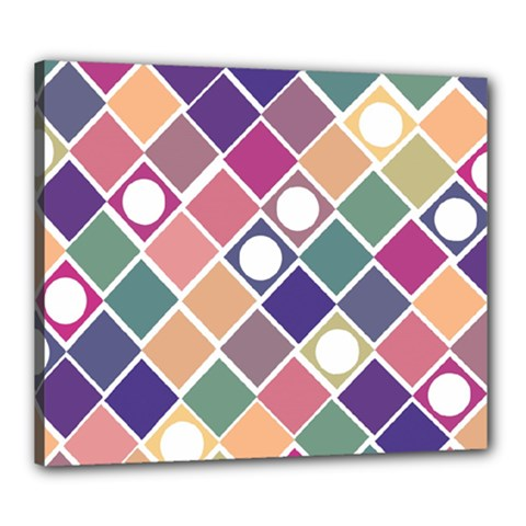 Dots And Squares Canvas 24  X 20  by Kathrinlegg
