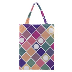 Dots And Squares Classic Tote Bags by Kathrinlegg