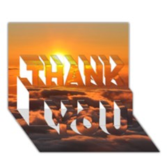 Sunset Over Clouds Thank You 3d Greeting Card (7x5)  by trendistuff