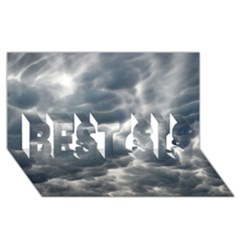 Storm Clouds 2 Best Sis 3d Greeting Card (8x4)  by trendistuff