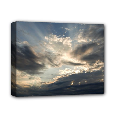 Heaven Rays Deluxe Canvas 14  X 11  by trendistuff